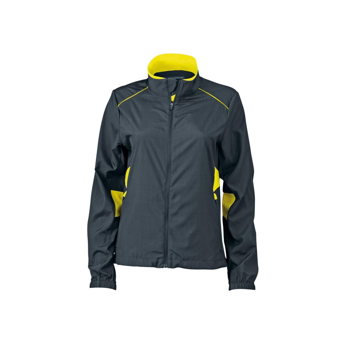 Куртка женская JN475 Ladies Performance Jacket - Стальной/Лимонный