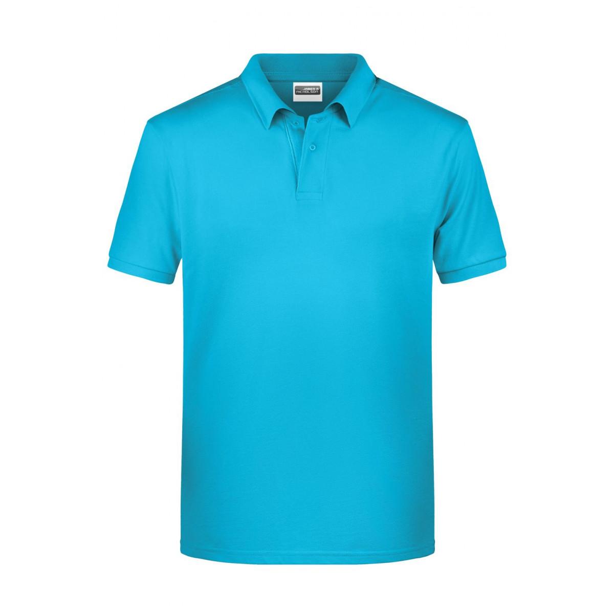 Рубашка поло мужская 8010 Mens Basic Polo - Бирюзовый