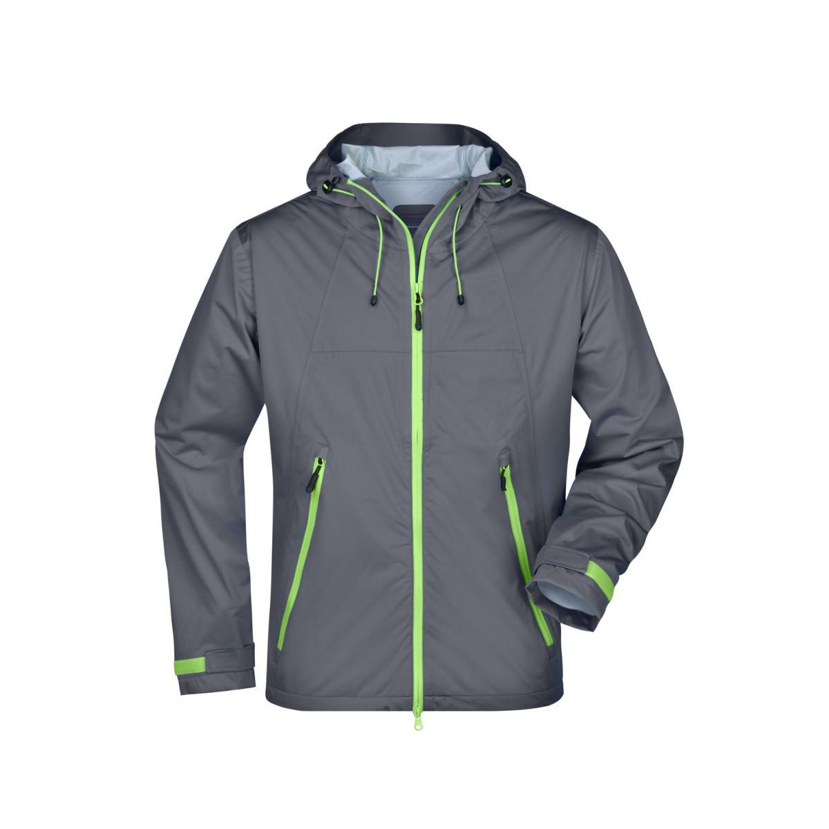 Куртка мужская JN1098 Mens Outdoor Jacket - Стальной/Насыщенный зеленый