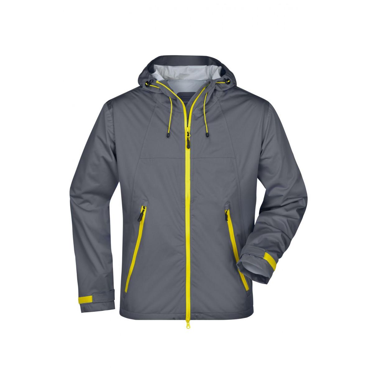 Куртка мужская JN1098 Mens Outdoor Jacket - Стальной/Желтый