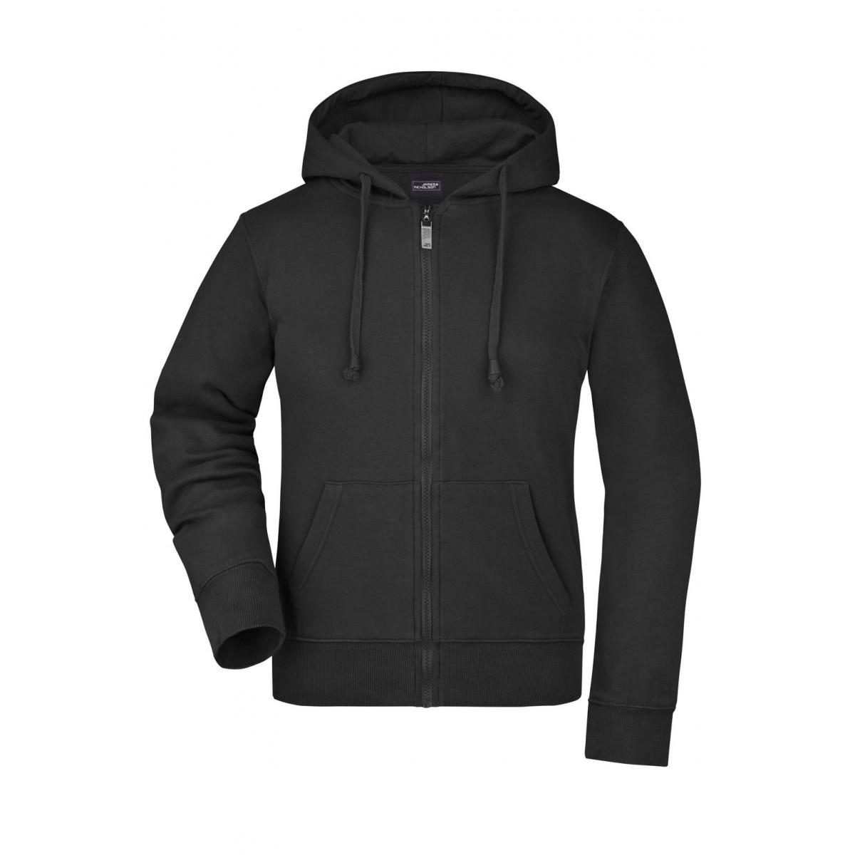 Толстовка женская JN053 Ladies Hooded Jacket - Черный