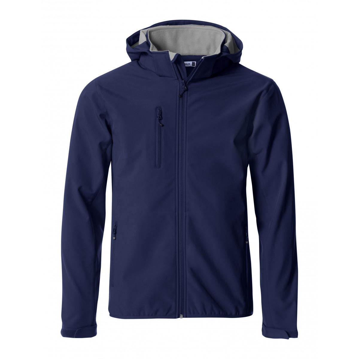 Ветровка мужская 020912 Basic Hoody Softshell - Темно-синий