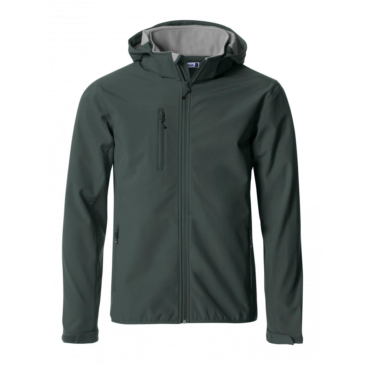 Ветровка мужская 020912 Basic Hoody Softshell - Темно-серый