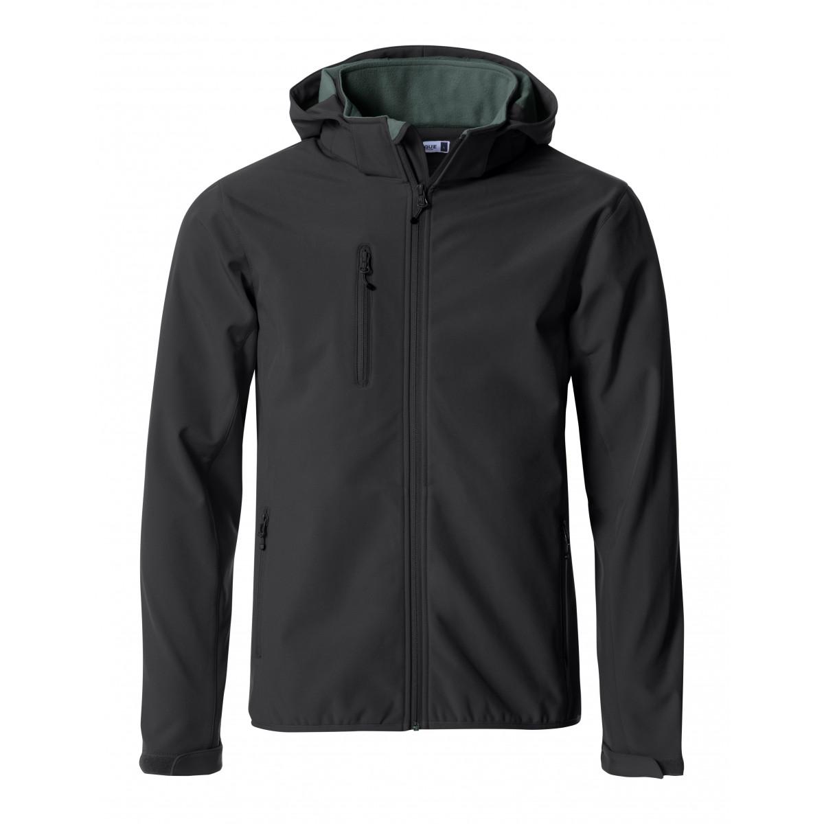 Ветровка мужская 020912 Basic Hoody Softshell - Черный