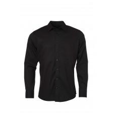 Рубашка мужская JN686 Men's Shirt Longsleeve Oxford - Черный