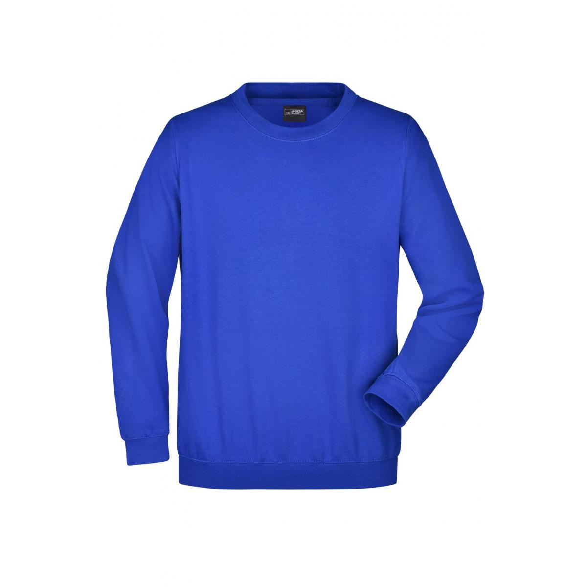 Толстовка мужская JN040 Round Sweat Heavy - Ярко-синий