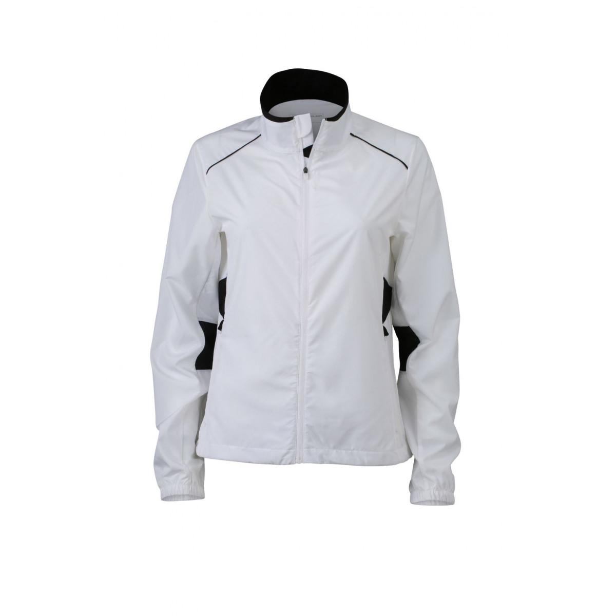 Куртка женская JN475 Ladies Performance Jacket - Белый/Черный