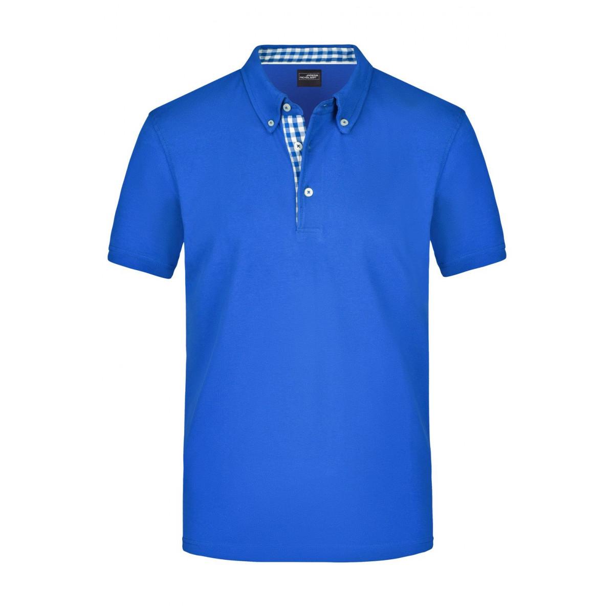 Рубашка поло мужская JN964 Mens Plain Polo - Ярко-синий/Ярко-синий-Белый