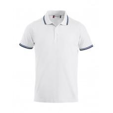 Рубашка поло унисекс 028219 Amarillo - Белый