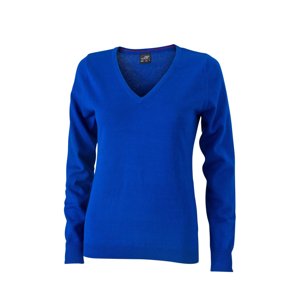 Пуловер женский JN658 Ladies V-Neck Pullover - Ярко-синий