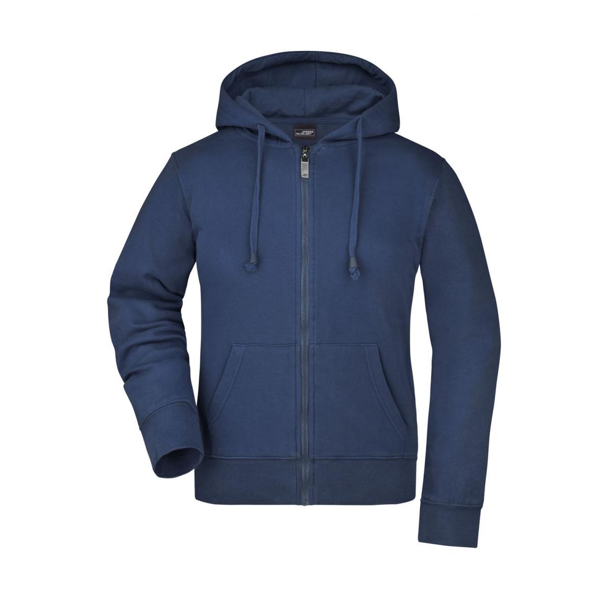 Толстовка женская JN053 Ladies Hooded Jacket - Темно-синий