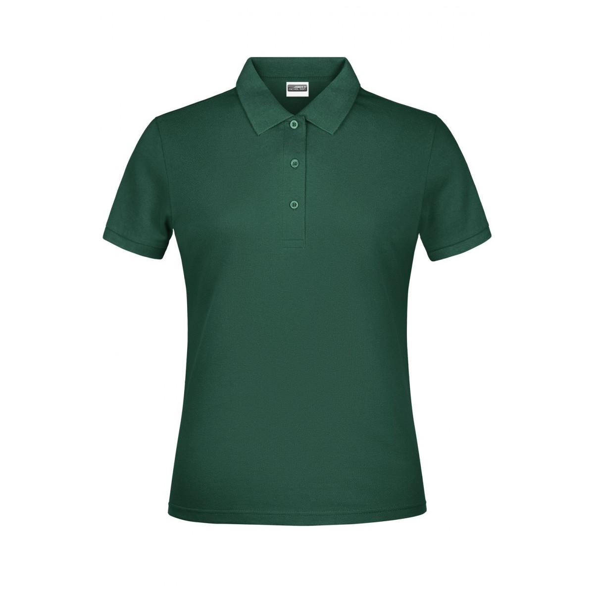 Рубашка поло женская JN791 Basic Polo Lady - Темно-зеленый