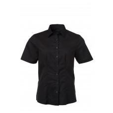 Рубашка женская JN687 Ladies' Shirt Shortsleeve Oxford - Черный