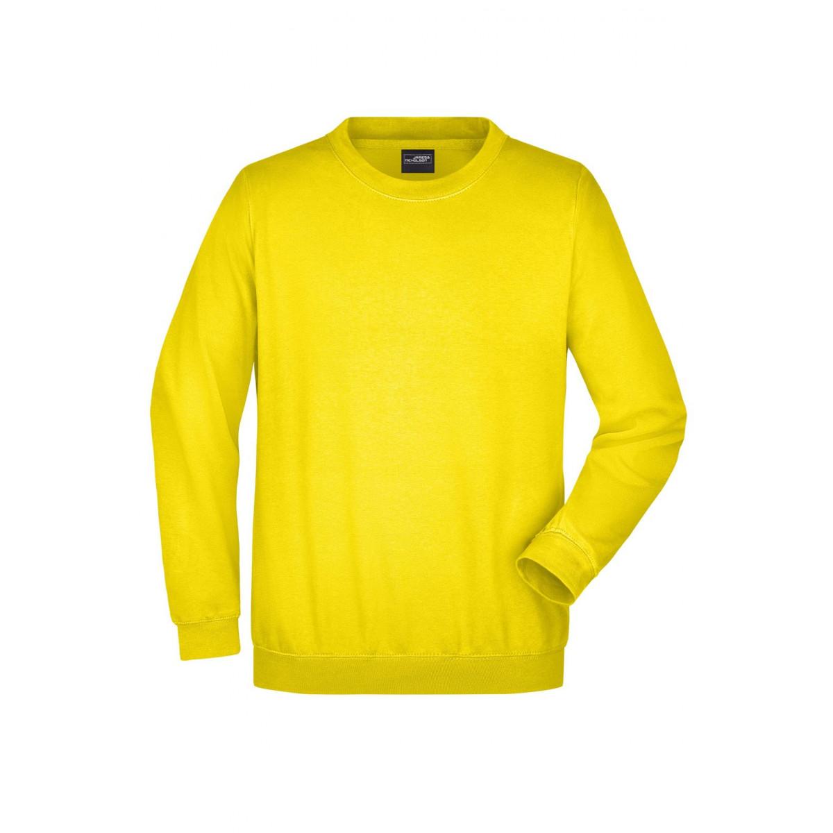 Толстовка мужская JN040 Round Sweat Heavy - Ярко-желтый