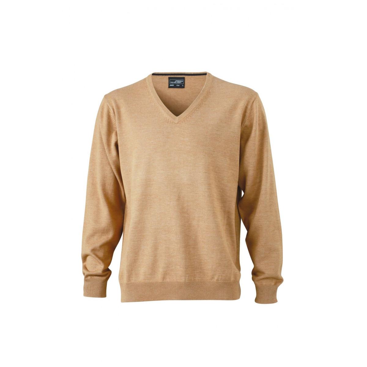 Пуловер мужской JN659 Mens V-Neck Pullover - Желтый