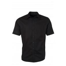 Рубашка мужская JN688 Men's Shirt Shortsleeve Oxford - Черный