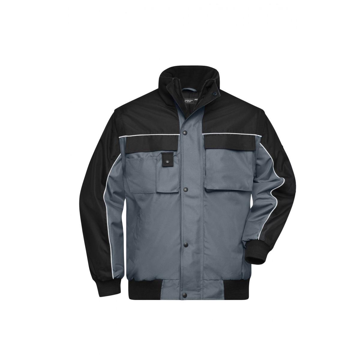Куртка мужская JN810 Workwear Jacket - Карбон/Черный