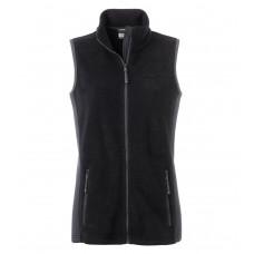Жилет женский JN855 Ladies' Workwear Fleece Vest - Черный/Темно-серый