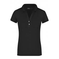 Рубашка поло женская JN158 Ladies' Elastic Polo Short-Sleeved - Черный