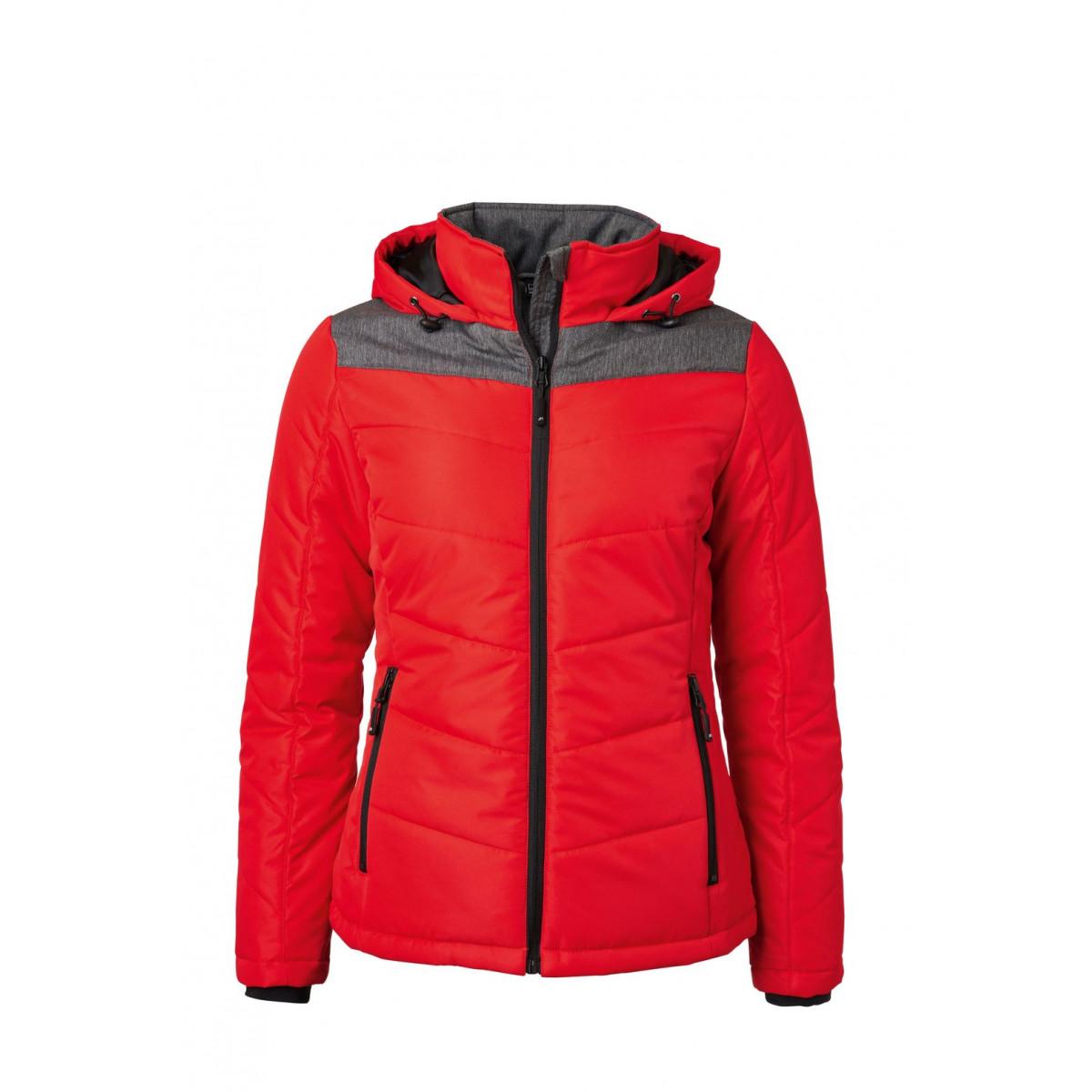 Куртка женская JN1133 Ladies Winter Jacket - Красный/Темно-серый меланж