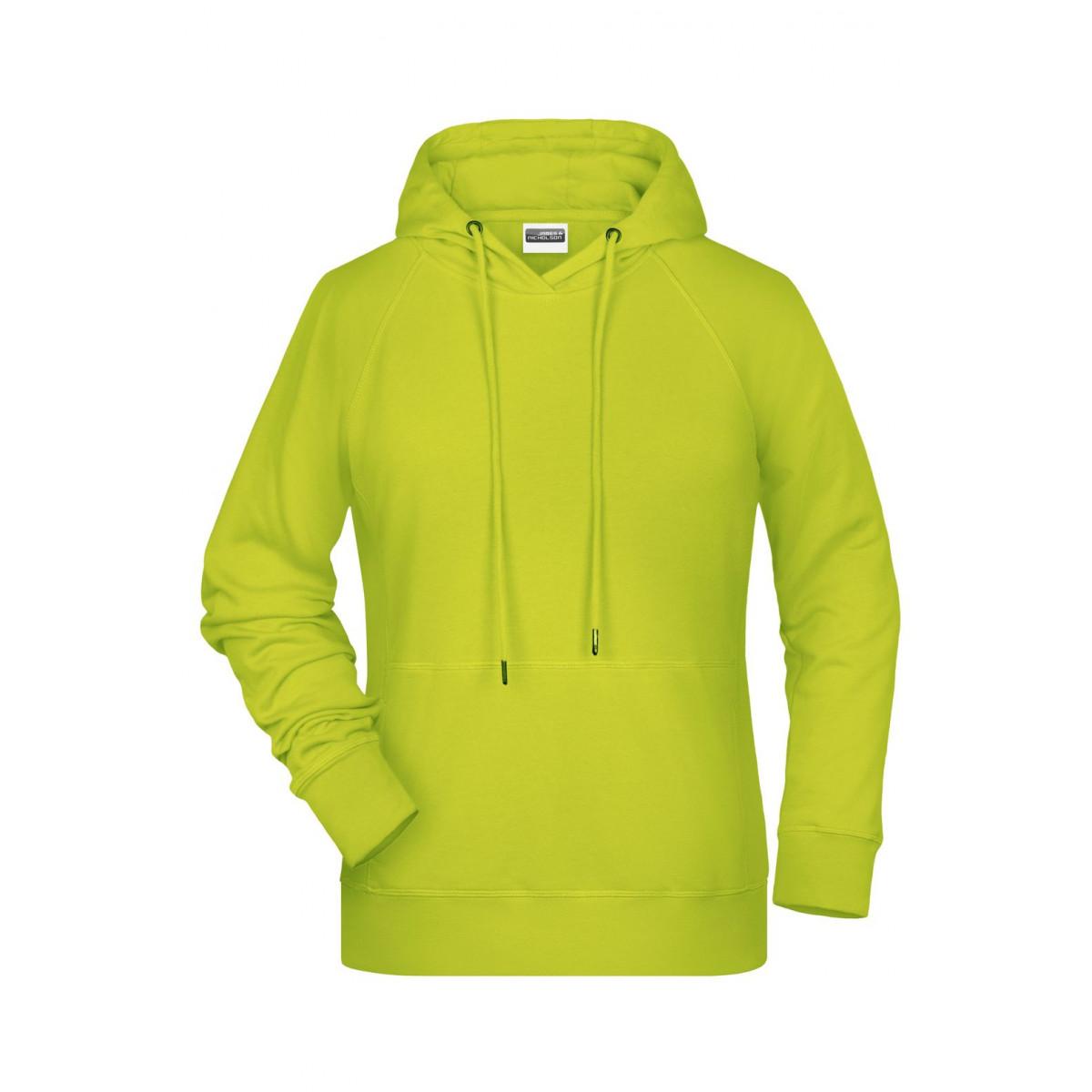 Толстовка женская 8023 Ladies Hoody - Ярко-желтый