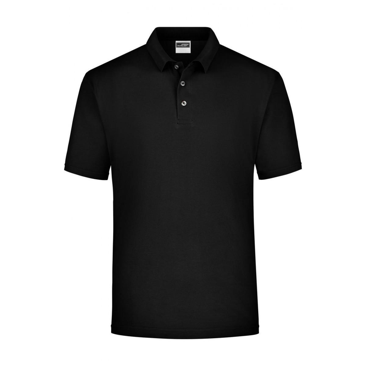 Рубашка поло мужская JN020 Polo Piqué Medium - Черный