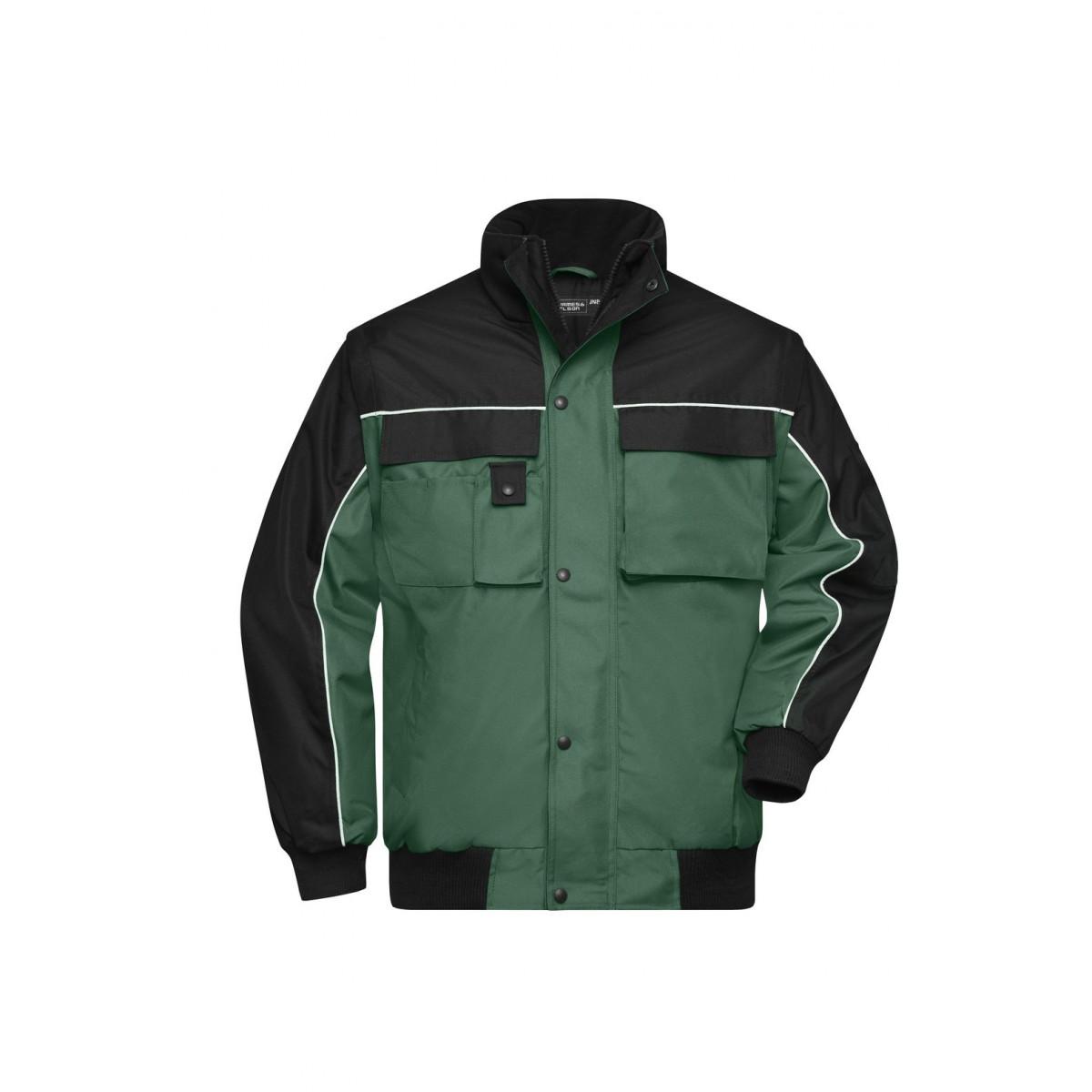 Куртка мужская JN810 Workwear Jacket - Темно-зеленый/Черный