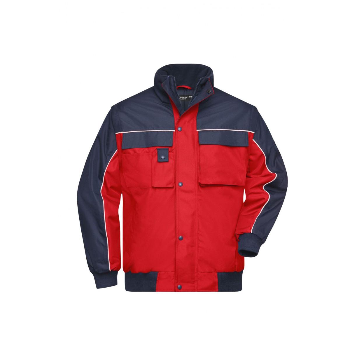 Куртка мужская JN810 Workwear Jacket - Красный/Темно-синий
