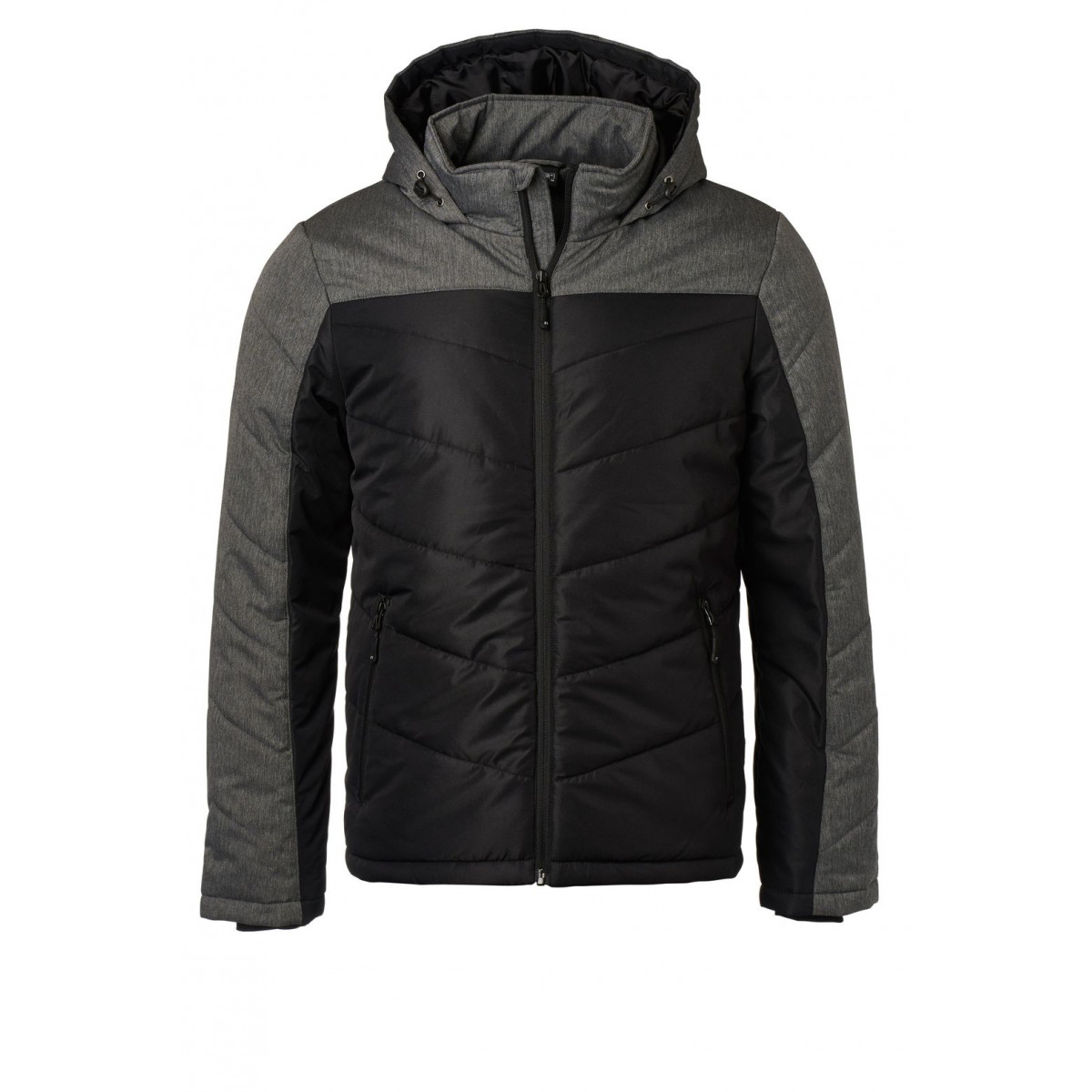 Куртка мужская JN1134 Mens Winter Jacket - Черный/Темно-серый меланж