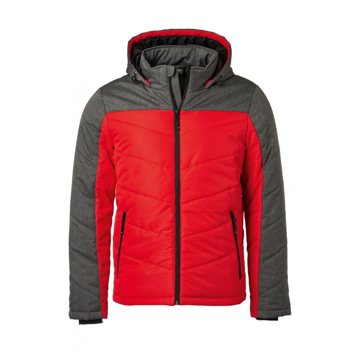 Куртка мужская JN1134 Mens Winter Jacket - Красный/Темно-серый меланж