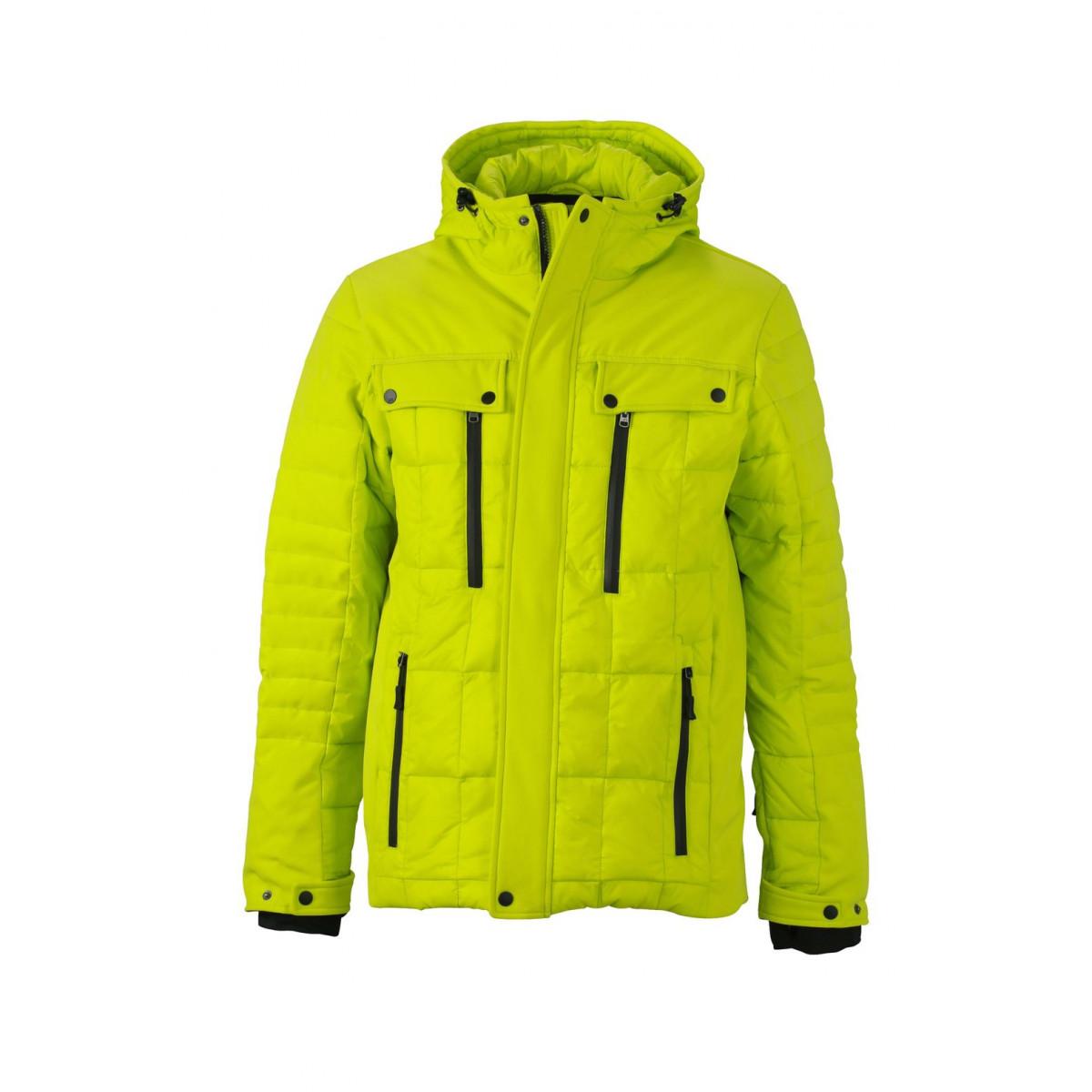 Куртка мужская JN1102 Mens Wintersport Jacket - Ярко-желтый/Черный