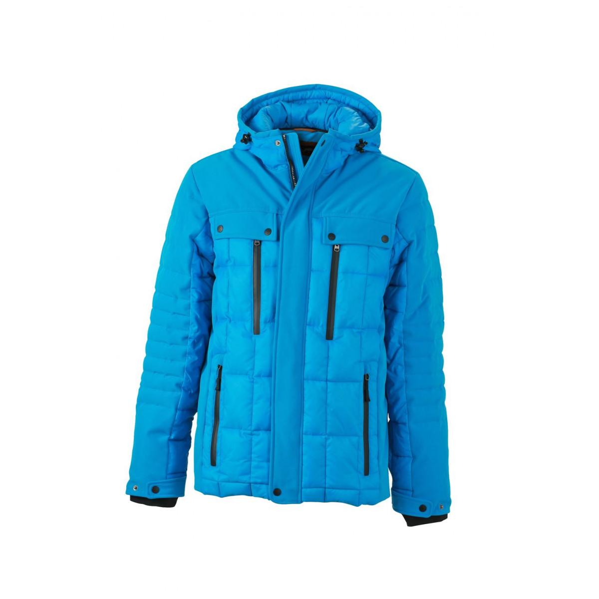 Куртка мужская JN1102 Mens Wintersport Jacket - Аква/Черный