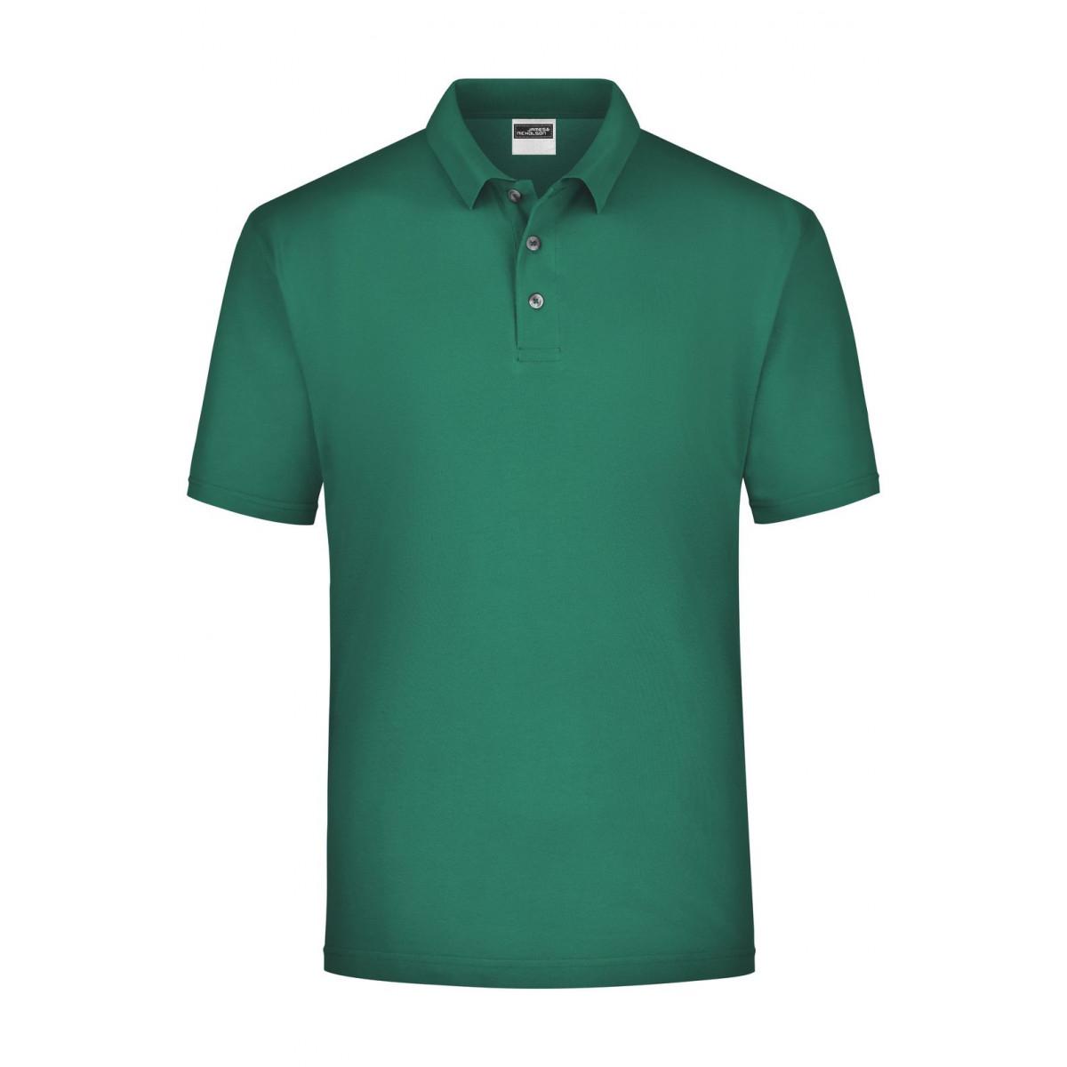 Рубашка поло мужская JN020 Polo Piqué Medium - Темно-зеленый
