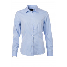 Рубашка женская JN689 Ladies' Shirt Longsleeve Herringbone - Светло-голубой