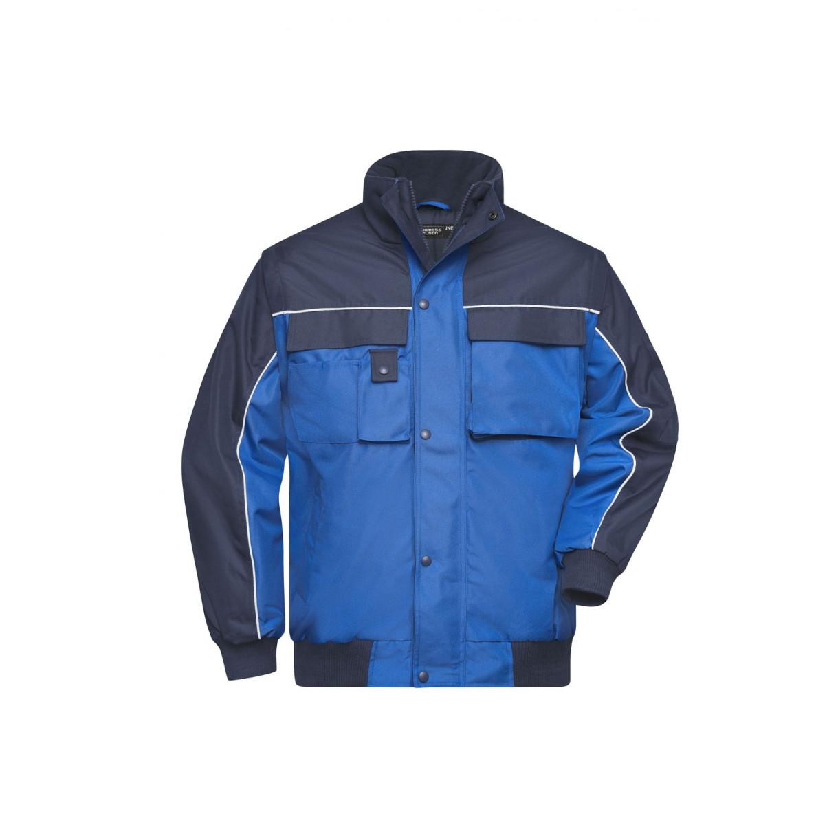 Куртка мужская JN810 Workwear Jacket - Ярко-синий/Темно-синий
