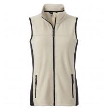 Жилет женский JN855 Ladies' Workwear Fleece Vest - Бежевый/Черный