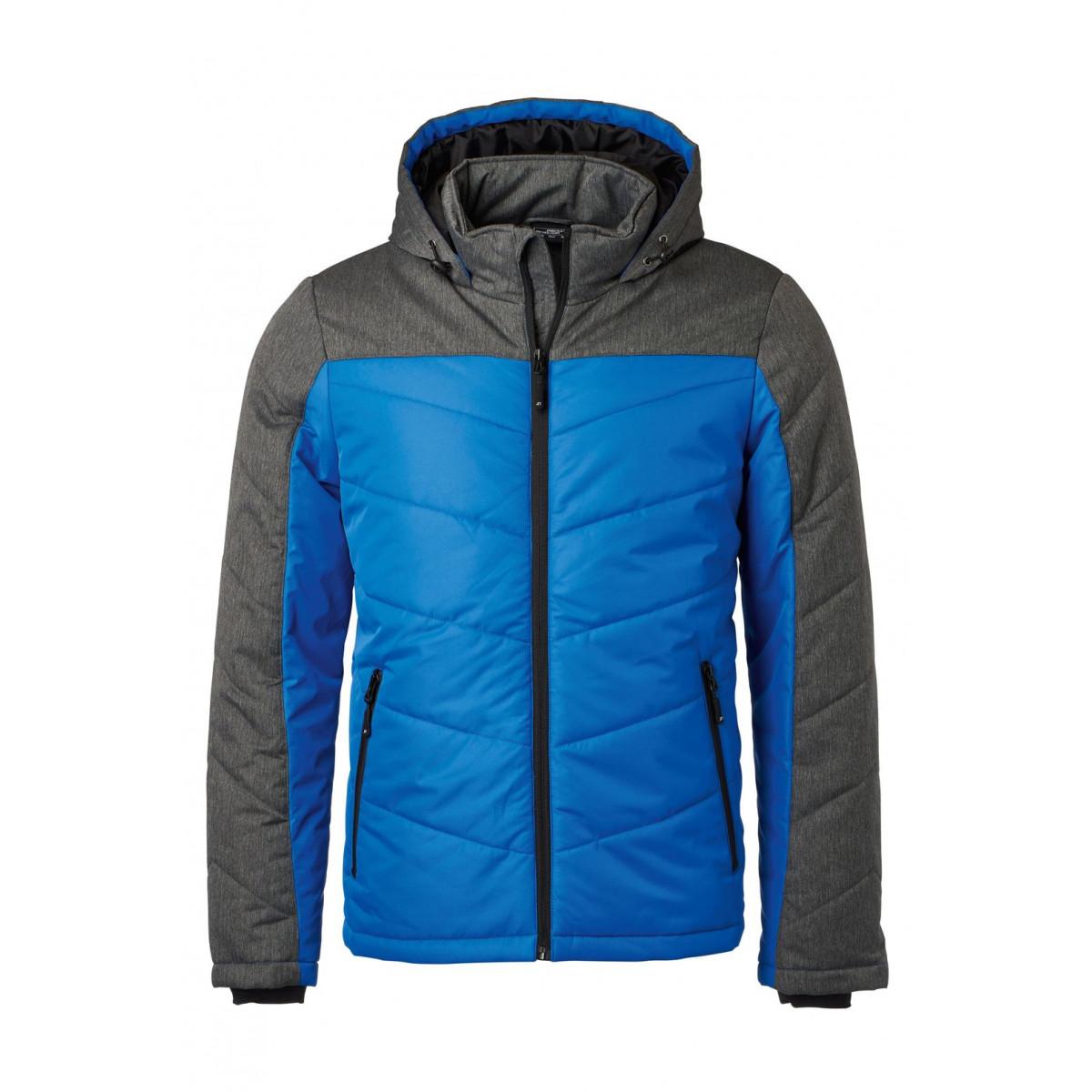 Куртка мужская JN1134 Mens Winter Jacket - Ярко-синий/Темно-серый меланж