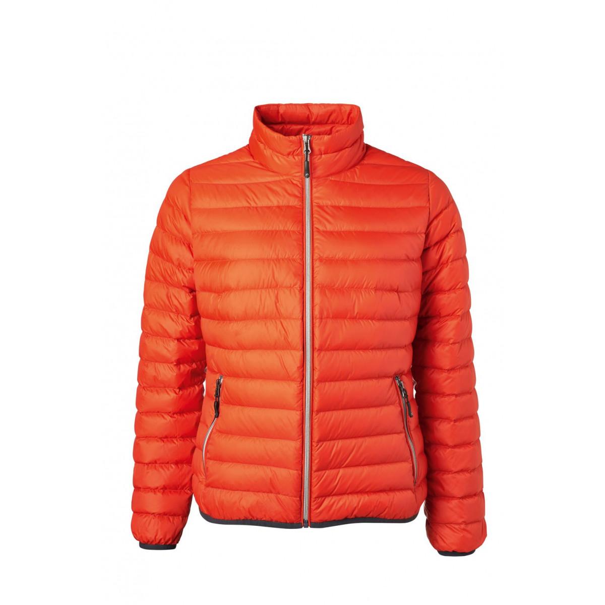 Куртка женская JN1139 Ladies Down Jacket - Оранжевый/Серебряный