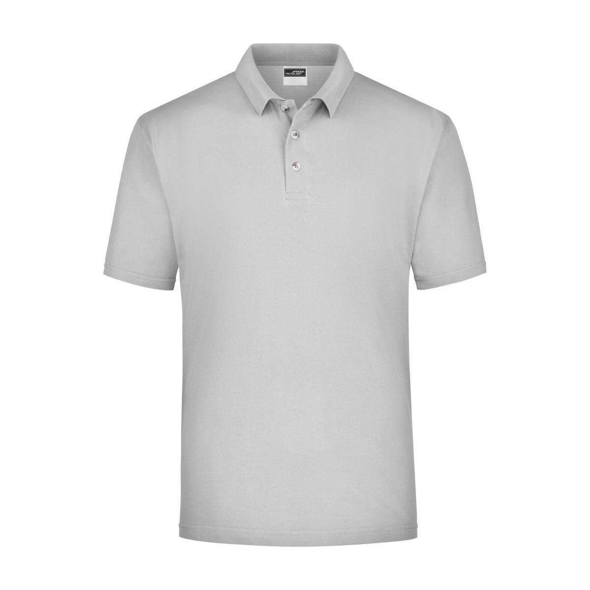 Рубашка поло мужская JN020 Polo Piqué Medium - Светло-серый