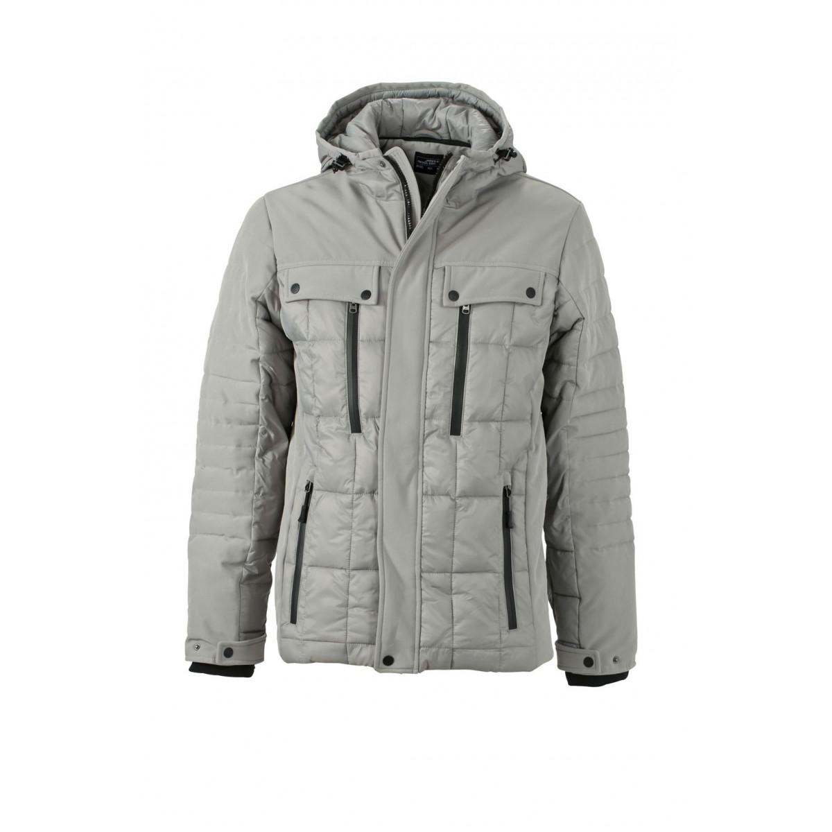 Куртка мужская JN1102 Mens Wintersport Jacket - Серебряный/Черный