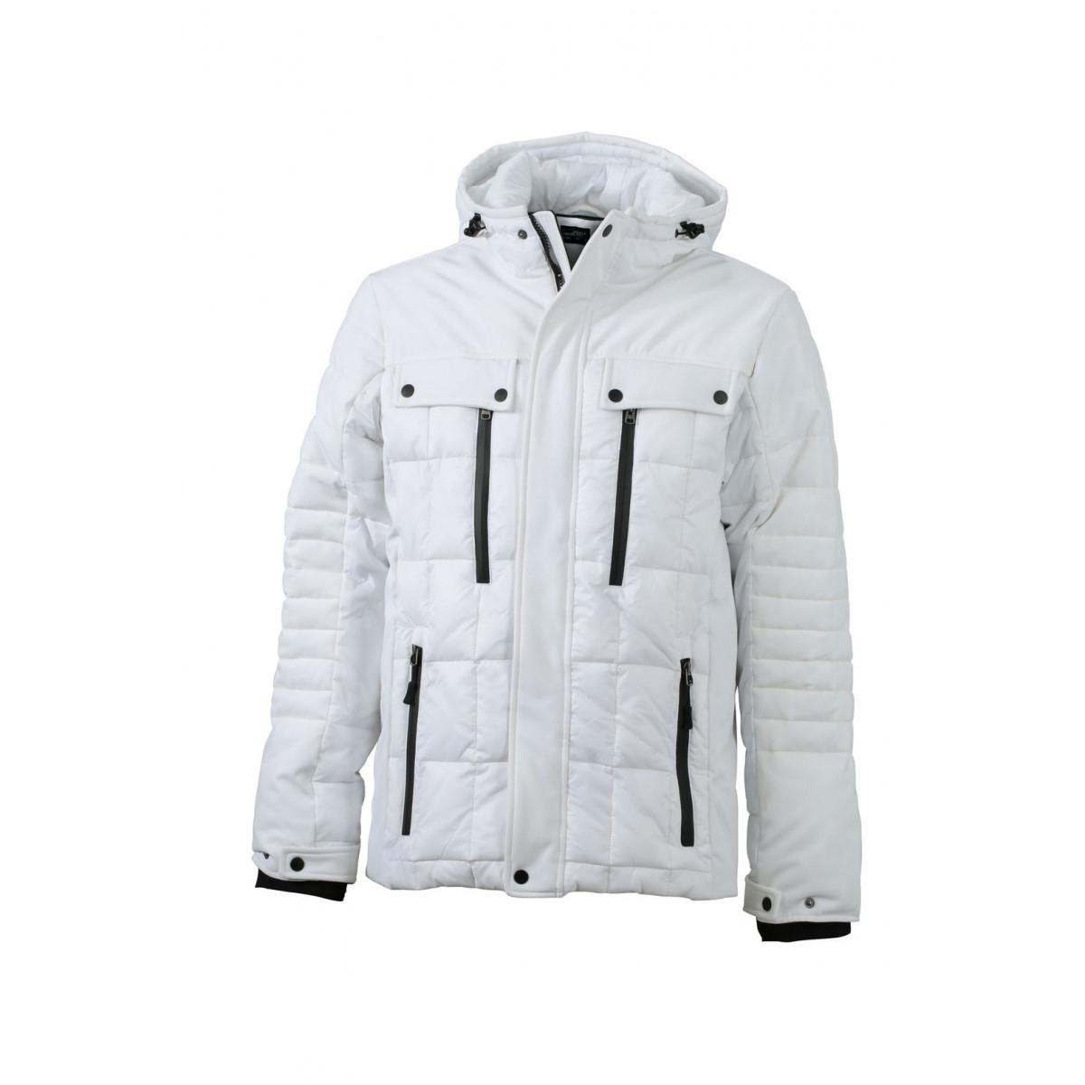 Куртка мужская JN1102 Mens Wintersport Jacket - Белый/Черный