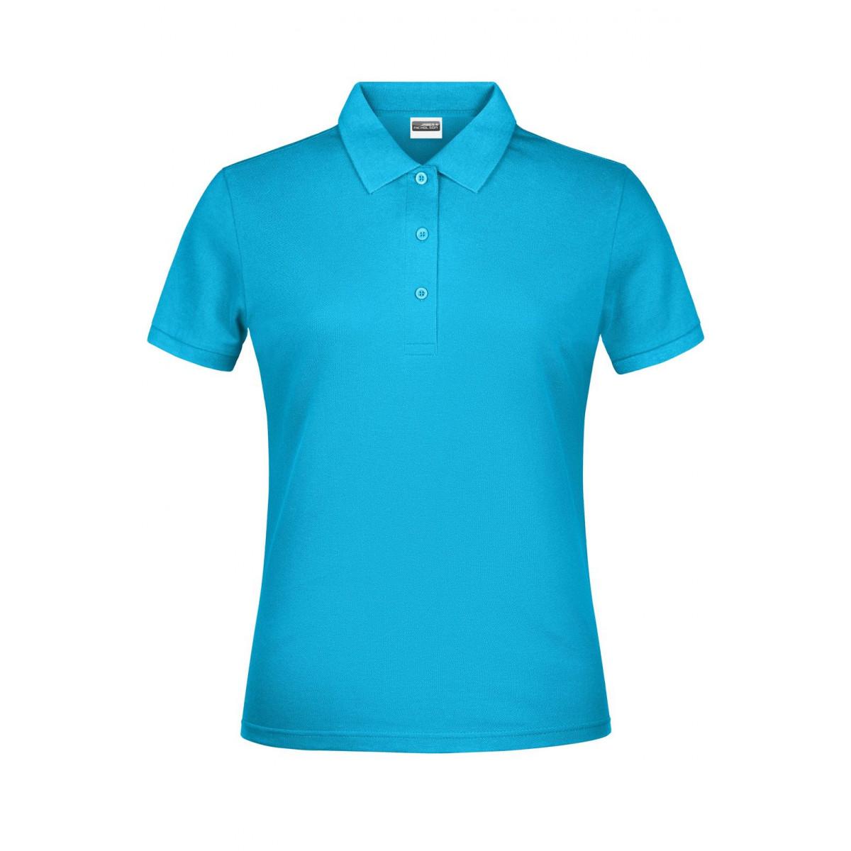 Рубашка поло женская JN791 Basic Polo Lady - Бирюзовый