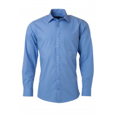 Рубашка мужская JN678 Men's Shirt Longsleeve Poplin - Аква