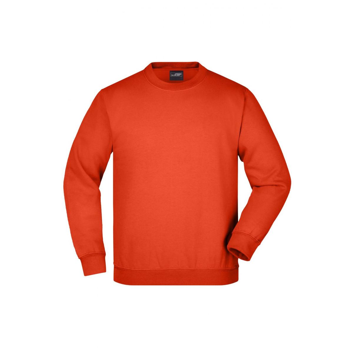 Толстовка детская JN040K Round Sweat Heavy Junior - Ярко-оранжевый