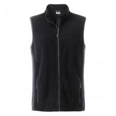 Жилет мужской JN856 Men's Workwear Fleece Vest - Черный/Темно-серый