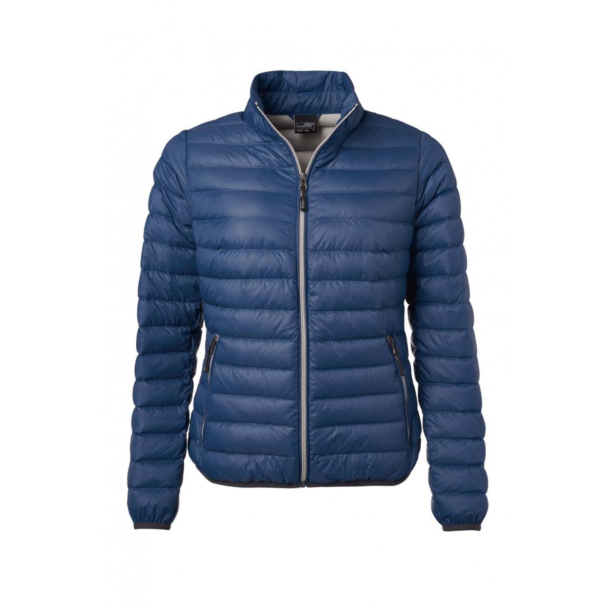 Куртка женская JN1139 Ladies Down Jacket - Темно-синий/Серебряный