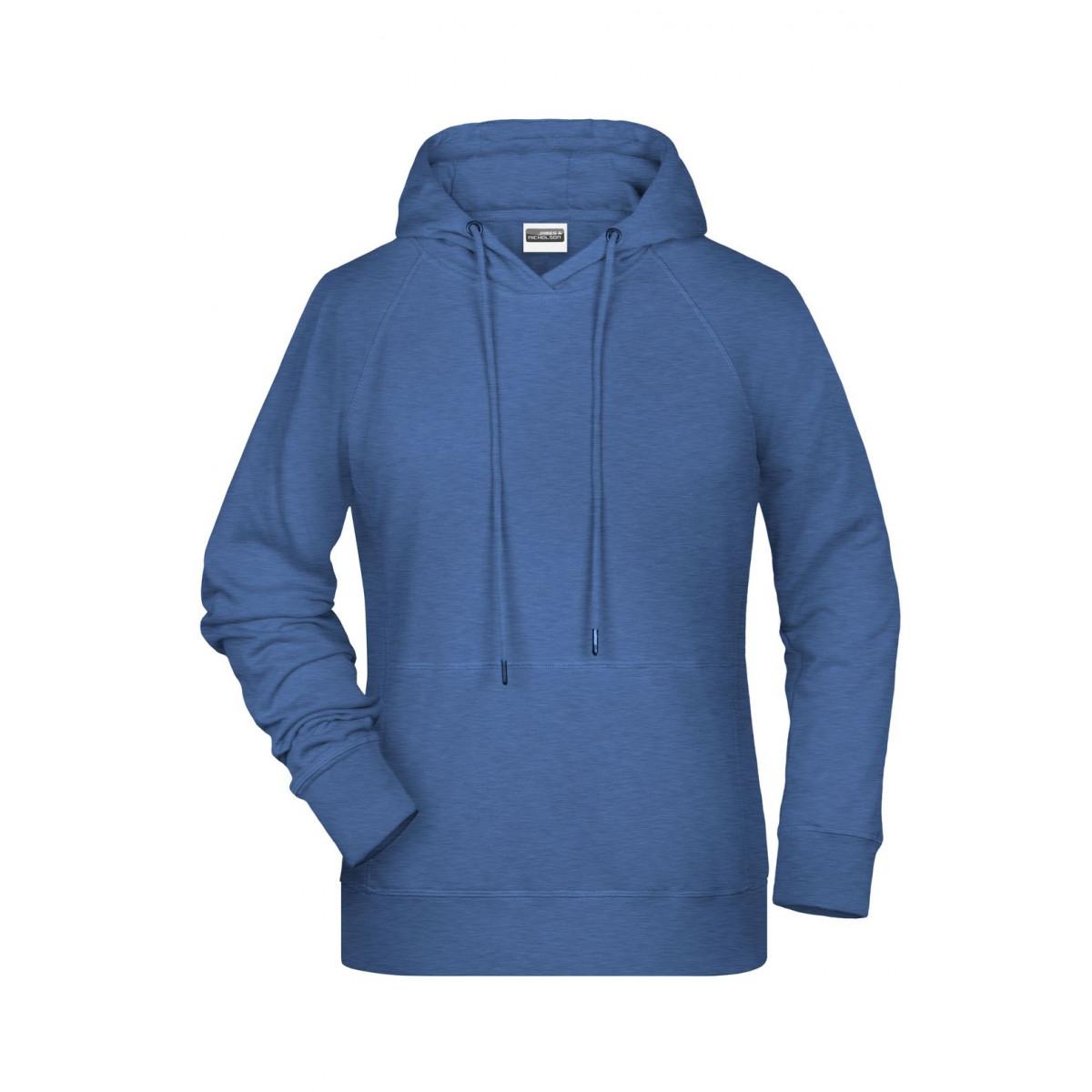 Толстовка женская 8023 Ladies Hoody - Светло-синий меланж