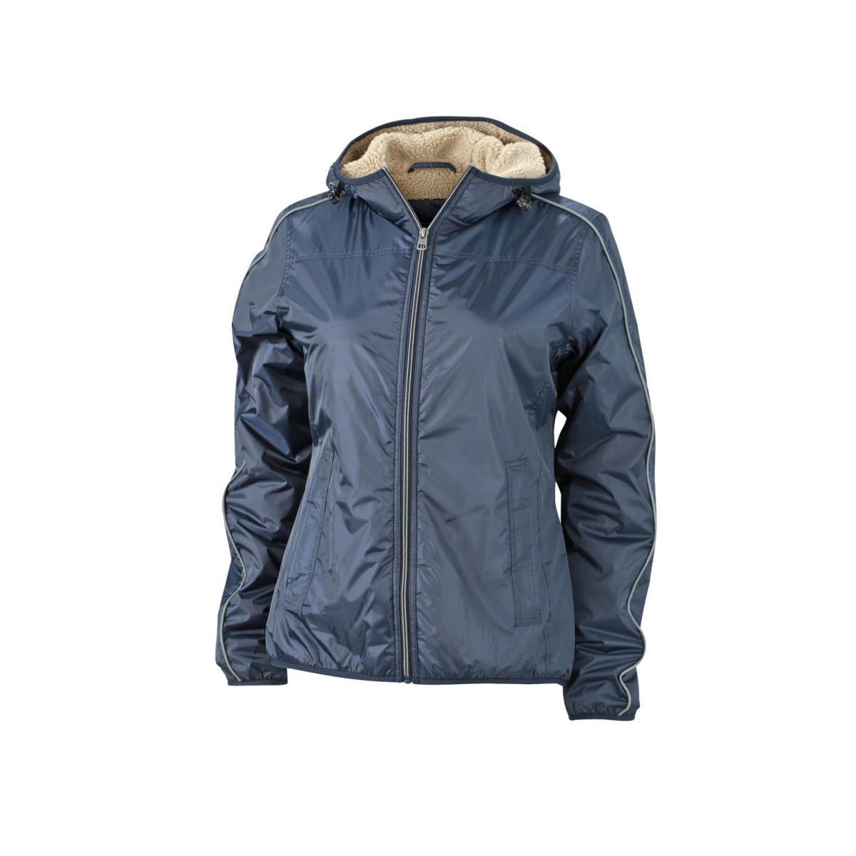 Куртка женская JN1103 Ladies Winter Sports Jacket - Темно-синий/Желтый