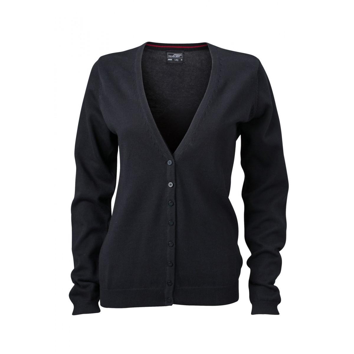 Кардиган женский JN660 Ladies V-Neck Cardigan - Черный