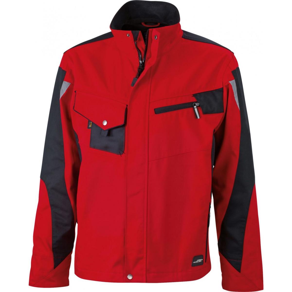 Куртка мужская JN821 Workwear Jacket - Красный/Черный